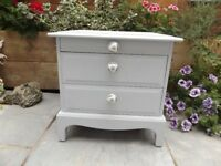 Beautiful Stag Bedside Table With Tray