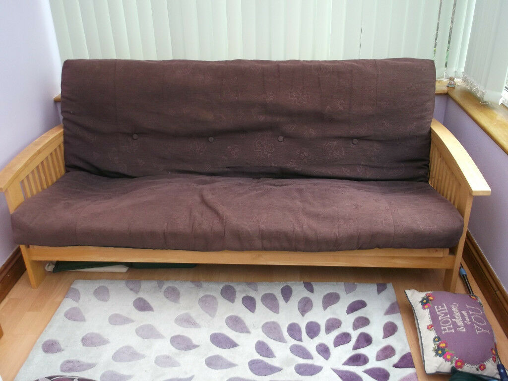 sale retailer 66adc 6dd92 Wooden Double Futon | in Cambridge, Cambridgeshire | Gumtree