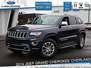 2014 Jeep Grand Cherokee **OVERLAND*CUIR*TOIT*NAVI*CAMERA*A/C**