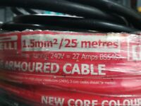 Armoured electric cable