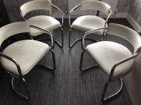 4 x Vintage Retro Dining Tubular Chairs Mid Century