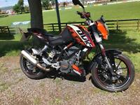 2012 Ktm duke 200 spotless with extras motd finance etc £2499