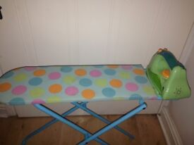 Toy iron and ironing board