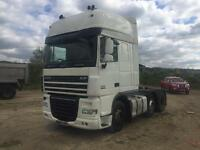 Daf xf105 2007 6x2 510 bhp manual gearbox ideal export