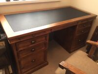Barker & Stone house office desk, chair & filing cabinet