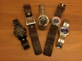 Collection of 5 fashion watches