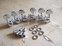 GROVER Chrome Large button 3-per-side thumbwheel-locking Tuners / Machine Heads - BRAND NEW