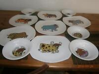 beefeater series steak/grill plates and matching bowls
