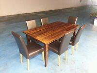 solid wood next dining table + 6 chairs (item 9)