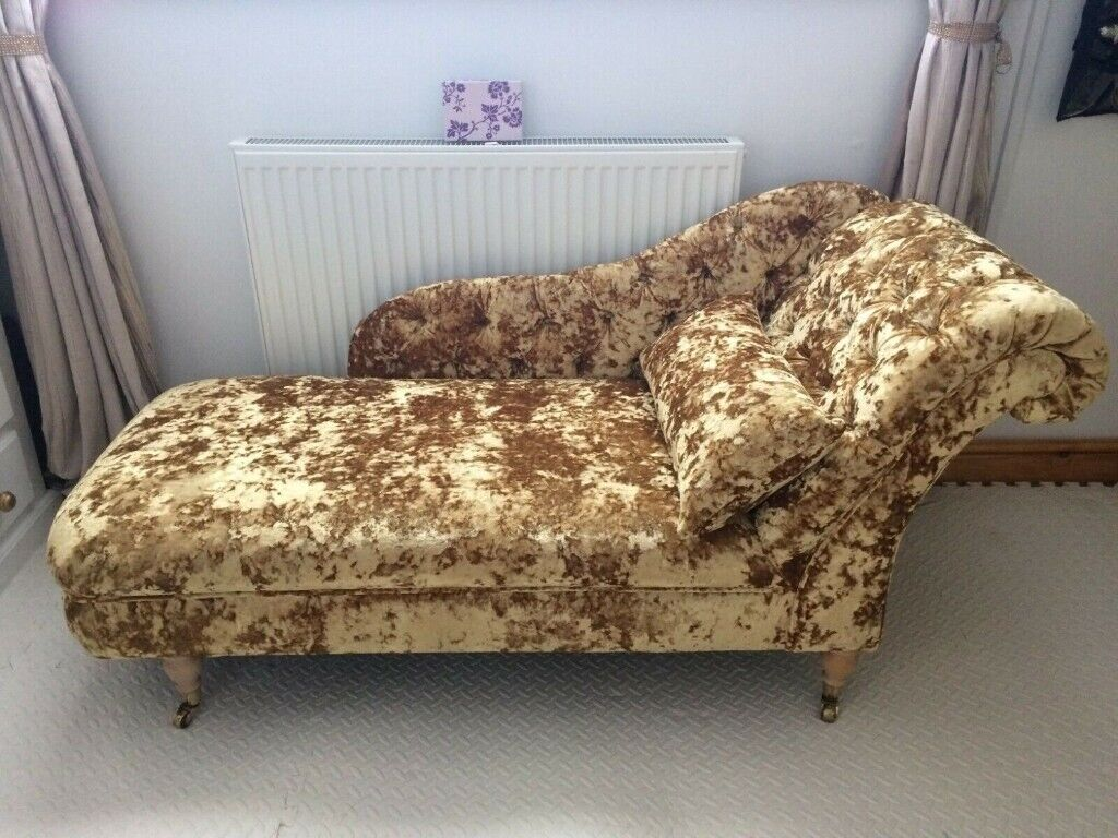 Wondrous Gold Crushed Velvet Chaise Lounge Sofa Chair Handmade House Or Salon In Norwich Norfolk Gumtree Gmtry Best Dining Table And Chair Ideas Images Gmtryco