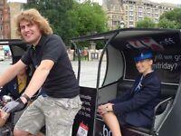 Pedicab Driver, £10/hr