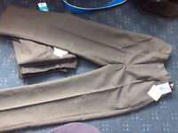 4 pairs of boys grey school trousers aged 9-10 AS NEW WITH TAGS