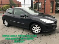 2009 PEUGEOT 308 1.4 URBAN 3 DOOR MINT CAR GENUINE LOW MILES FINANCE AVAILABLE FROM £89 PER MONTH