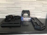 PS4 slim 500gb, 5games and steering wheel