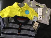 Baby boy summer tops Bundle, 9-12 months. Brand new RRP £17
