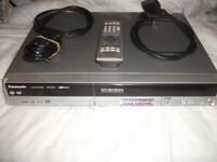 PANASONIC DVD RECORDER DMR-ES10.VERY GOOD CONDITION WITH REMOTE AND ALL LEADS