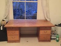 Large wooden desk / bureau