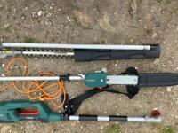 2-in-1 Hedge Trimmer & Pole Pruner used twice