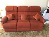 3 seater reclining lazyboy sofa