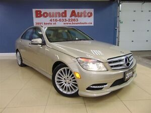 2011 Mercedes-Benz C-Class C250 4MATIC, LEATHER, SUNROOF