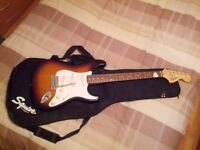 Fender Squier Strat Guitar in Brown Sunburst