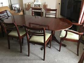 Meredew Table & 6 Matching Chairs