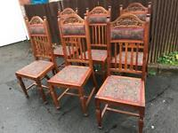 STUNNING SOLID WOOD DINING CHAIRS X 6 ** FREE DELIVERY IS AVAILABLE **