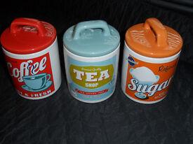 Retro Coffee/Tea/Sugar Containers