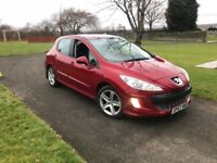 "LOW MILEAGE "" DIESEL SPORT PEUGEOT 308 HDI 1.6 RED 5 DOOR FULL SERVICE HISTORY"