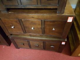 Jarpur Acacia small coffe table 6 drawer