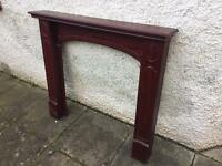Fireplace surround- mahogany mdf