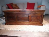 Solid Wood Chest Storage Coffee Table
