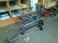 Heavy Duty Weights Bench + Bars