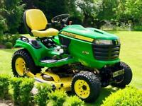 "John Deere X758 Ride On Mower - 60"" Deck - 4x4 - Diesel - Lawnmower - countax/Kubota/Stiga"