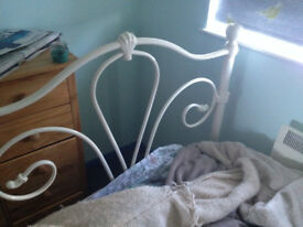 Metal Single Bed Frame and Mattress (if required)