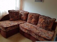Corner sofa bed. Hardly used. Brilliant condition