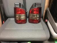 Vw t5 t5.1 facelift rear tinted lights for barn door
