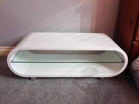 White Oval TV Stand