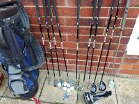 Left Handed Golf Clubs & Bag