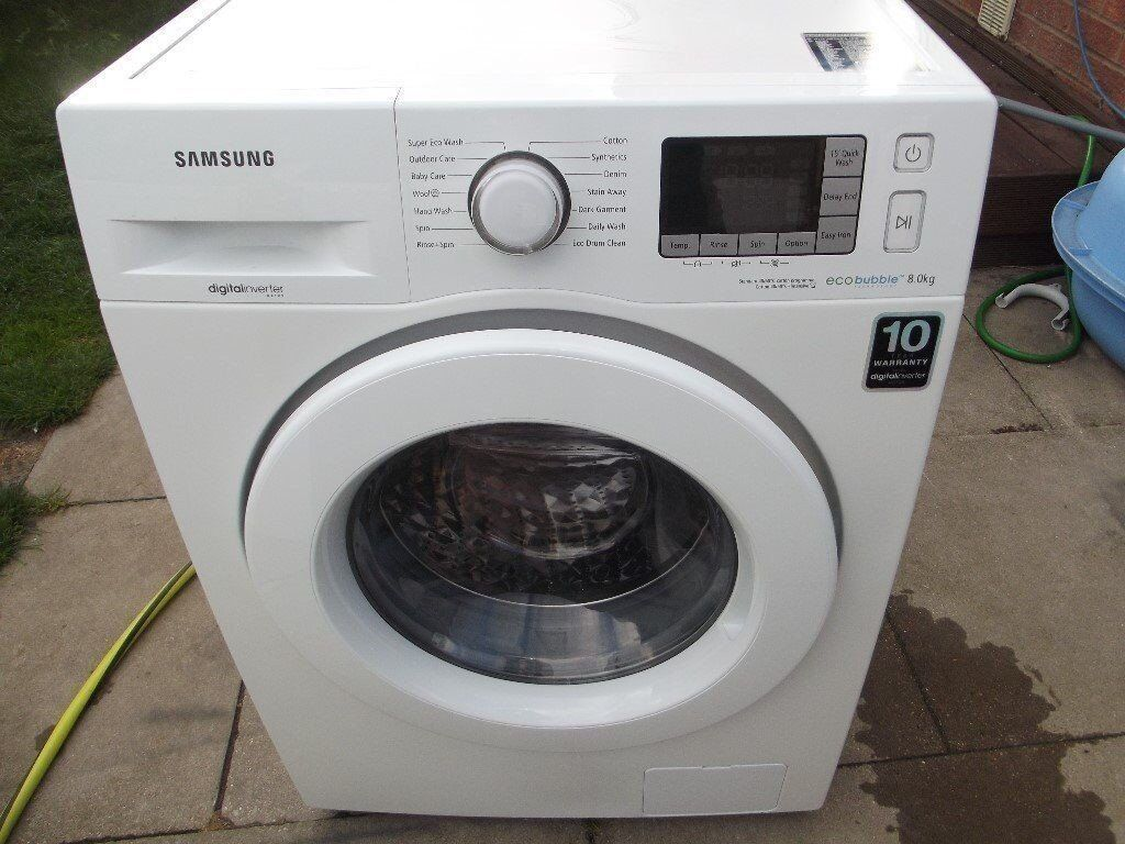 SAMSUNG ECO BUBBLE 8KG WASHING MACHINE RRP £420.00 ONE TIME OFFER AT 120 OFFER END 12/10/17