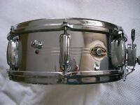 """Slingerland Model 130 Gene Krupa Sound King alloy snare drum - 14 x 5"""" - Niles, USA"""