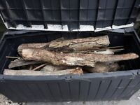 Large trunk of dry Logs ready for Winter inc trunk and lid