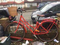 "18"" W bike with lock basket & helmet"