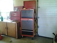 Two tool boxes with tools included