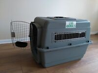 Pet Kennel LIKE NEW with food and water cups - meets most airlines requirements