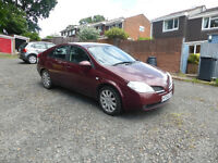 Nissan Primera 1.8 Petrol Manual gearbox,Sat Nav,Remote Central Locking, Electric windows