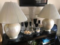 2 x Large Stylish Quality Lamps For Sale