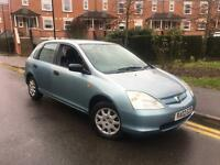 2002/02 REG HONDA CIVIC 1.4i MAX ** 1 F OWNER ** CLEAN CAR £795