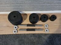 York Cast Iron Dumbells and Weight Plates