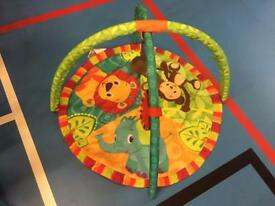 Play mat with musical toy & mirror excellent condition £10